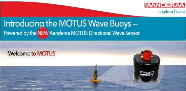 Webinar MOTUS – Conheça o novo sensor de ondas da Aanderaa